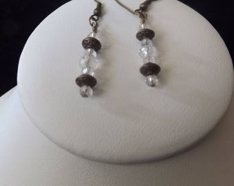 Clear Beaded Drop Earring
