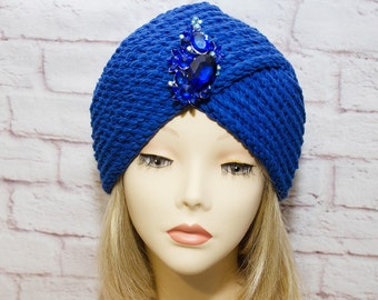 "Hat turban ""Sapphire"""