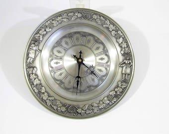 vintage Wall clock SHS pewter