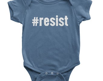 Resist Onesie | Organic Baby Clothes | Kids Anti Trump Shirt | Political Onesie | Kids Resist Shirt | Resistance Onesie | Kids Protest Shirt