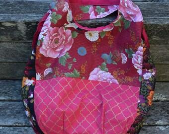 Large Handmade Floral Tote Bag