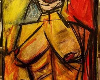 woman original painting