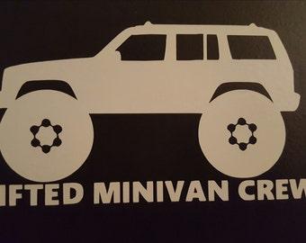 Lifted Minivan Crew Sticker - XJ