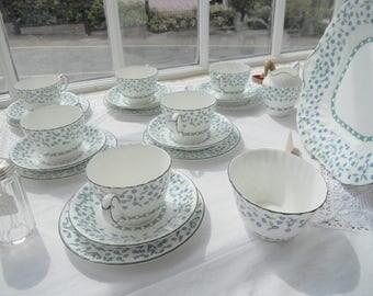 Aynsley forget-me-not 6 piece tea set