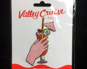 Summer Drink Embroidered Patch