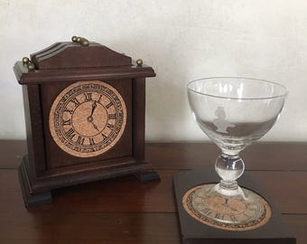 Antique Wood Clock Coasters (set of 6)