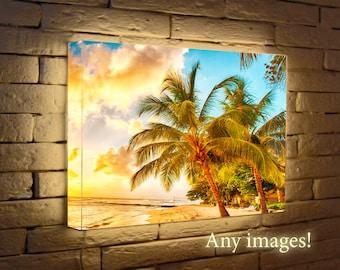 Light Box, Led print - Any images for home decor