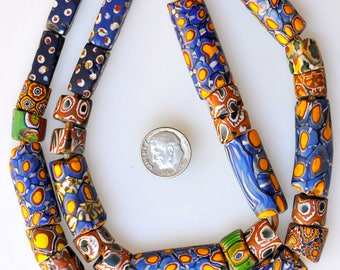 24 Inch Strand of Mixed Venetian Beads - Vintage African Trade Beads - MF2657