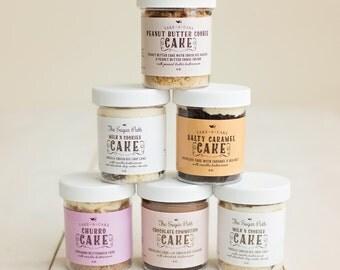 Custom Wedding Favors ---4 oz Cake Jars