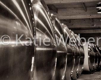 5x7 Winery Barrels