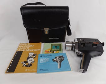 Bell and Howell Director Series Super 8 Zoom XL Movie Camera Model 1208 W/Case