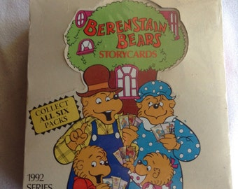 Berenstain Bears Trading Cards New unopened box of 54 from 1992