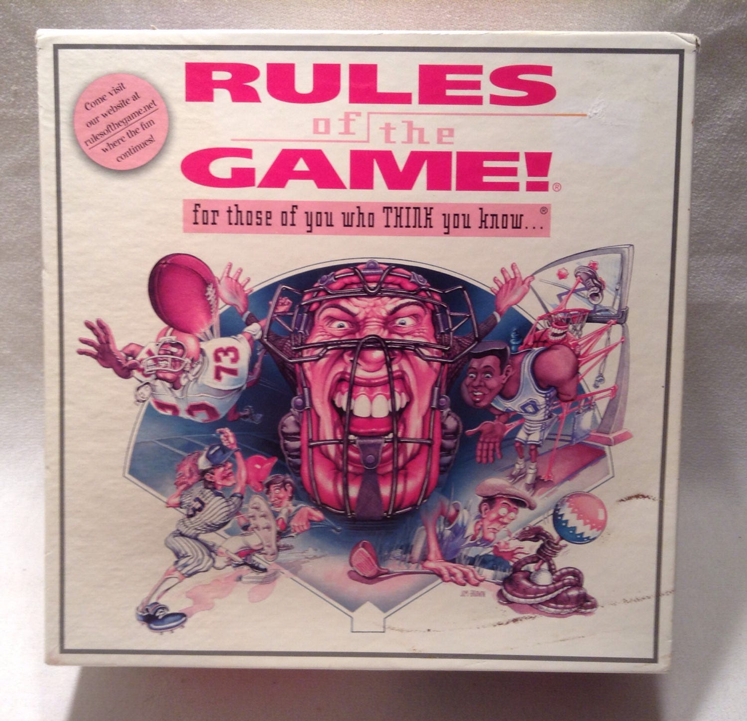 1995 Rules Of The Game Board Game New Free Shipping