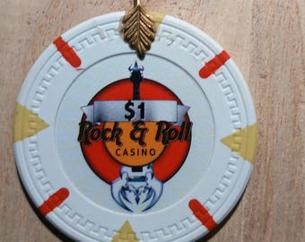 Rock & Roll Casino Poker Chip