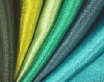 Silky Touch Satin Green Shades