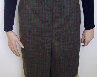 1970s Wool Blend Skirt - Size 12