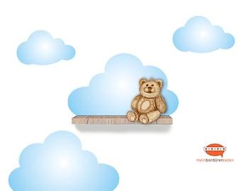 Wandtattoo-Set: Wolken   Wandsticker, Wandaufkleber, Wandgestaltung, Wolke, passend für Regale / Bilderleiste - Breite ca. 55cm