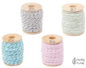 Baker yarn Baker's Twine blue, grey, pink, Green 15 m (RD)