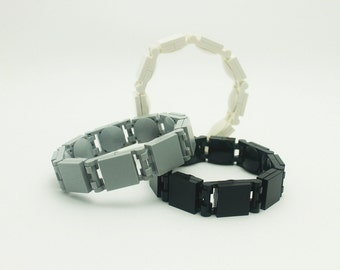 Snap-On Lego Bracelet Series 1 Monochrome - Black/White/Light Gray