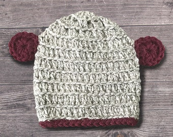 Crocheted Baby Beanie with Ears