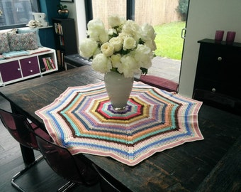 Spiderweb Crocheted Wool Table Cover
