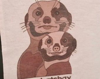 Meerkats Bay tote shopper bag - designed and made by me