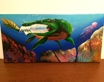 Sea Monster Painting