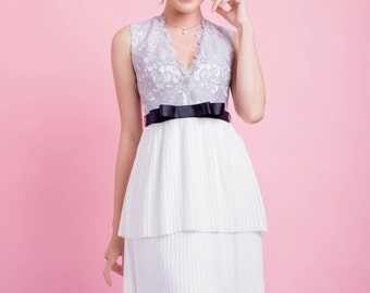 Pleated Layers Dress