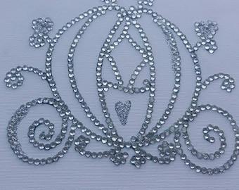 Diamante/glitter Cinderellas carriage canvas