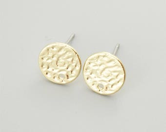 5 Pairs Gold Round Earring Stud,Earring Post ER013