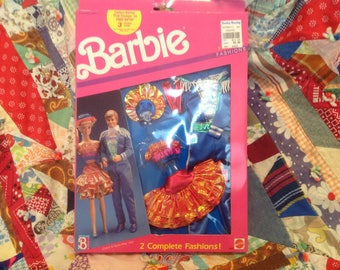 Vintage Barbie and Ken party outfits NIB