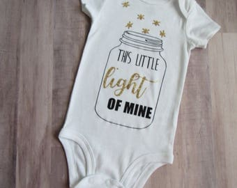 This Little Light of Mine Bodysuit - Scripture Bodysuit - Christian Bodysuit - Biblical Baby Clothing - Bible Verse Baby - Scripture Shirt