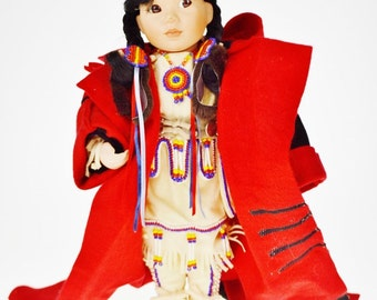 Vintage Native American Indian Children of the Great Spirit Winter Baby Doll