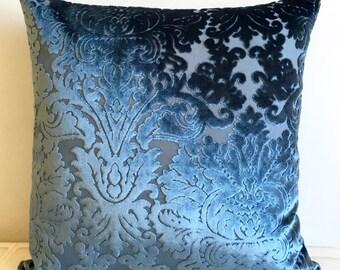 Sapphire Blue Velvet Pillow Cover Pillow Velvet Sapphire Blue Pillow Designer Pillow Velvet Pillows Velvet Cushion Sapphire BlueSofa Pillow