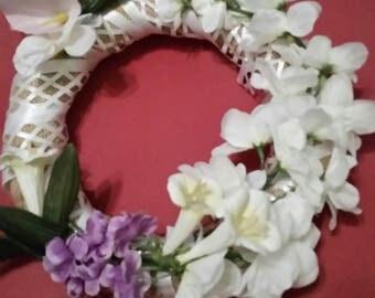 Lattice white wreath