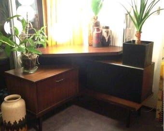 Vintage mid century corner cabinet