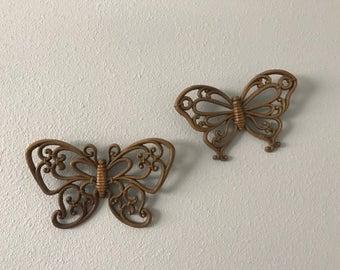 Butterfly Wall Art | Boho Wall Art | Homco Butterflies | Bohemian Butterflies