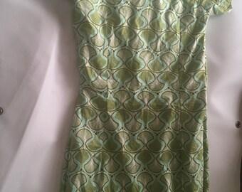 Adela Green Midi Dress With Head Tie