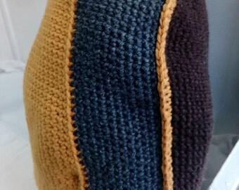 Round crochet pillows, organic - cotton, 35 cm
