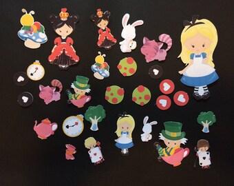 Alice in Wonderland Die Cuts, Alice in Wonderland Cut Out, Alice in Wonderland Stickers