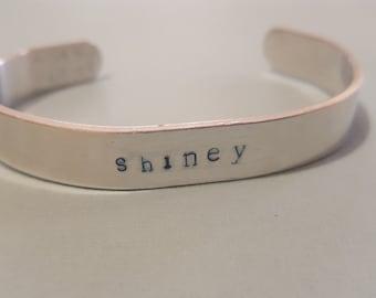 Shiney- Aluminum Cuff Bracelet