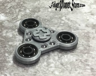 Fidget spinner, Fidget toy, EDC Spinner, Stress Reliever, Anxiety Toy, ADHD Toy, Autism Toy, Fidget Gadget 4 Deep with Bad Boy Bling!