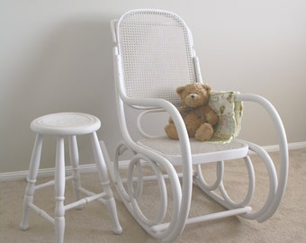 SOLD - Nursery set - Vintage Thonet Bentwood Rocking Chair