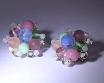Bead Clip On Earrings