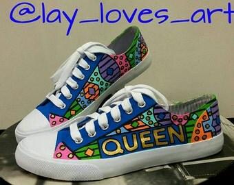 Custom Queen Canvas Shoes