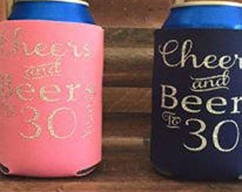 30th Birthday Can coolers
