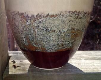 Handmade  Contemporary Birch and Cordavan Ceramic Vase