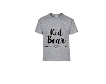 Kid Bear OR Baby Bear Kid's Shirt