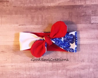 Patriotic Stars and Sparkles Headband