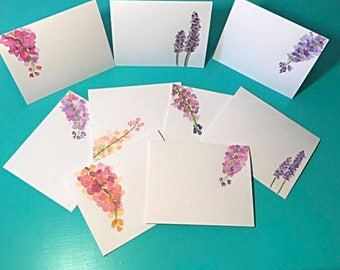 Watercolor blank note cards